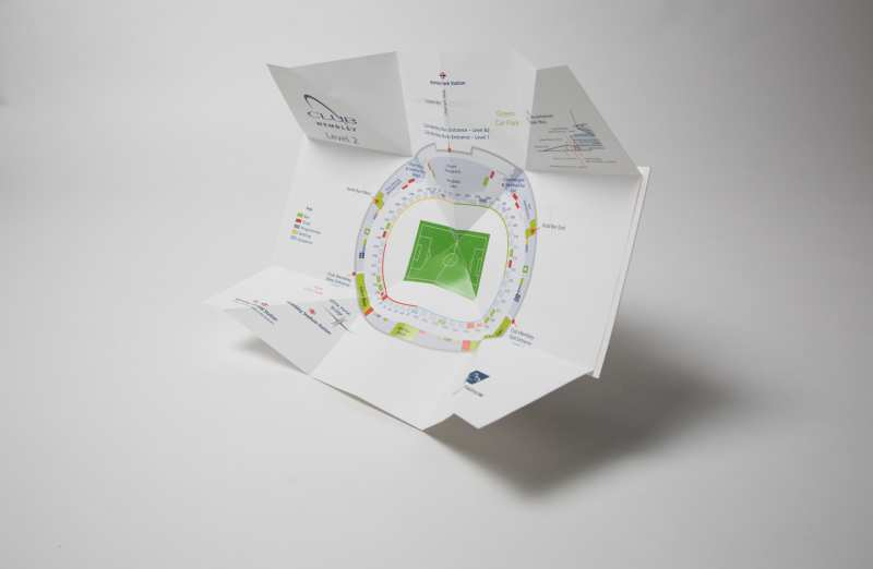 Stadium Map For Wembley Popout Products